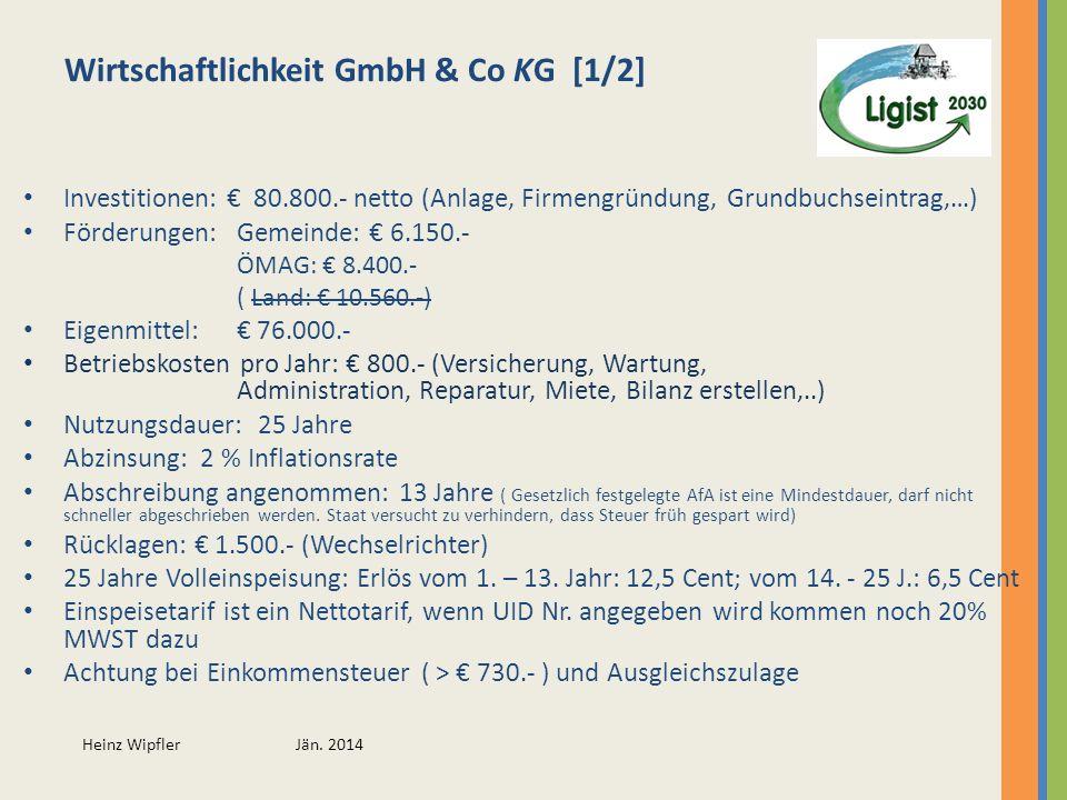 Wirtschaftlichkeit GmbH & Co KG [1/2]